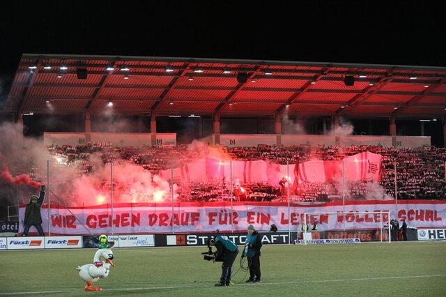 <p>Fanblock des FSV Zwickau</p>
