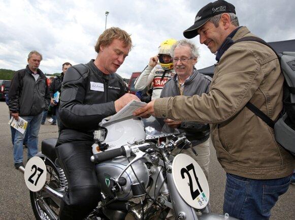<p>ADAC Sachsenring Classic 2014: Waldmann&nbsp; ist am Freitag auf einer DKW Audiunion unterwegs.</p>