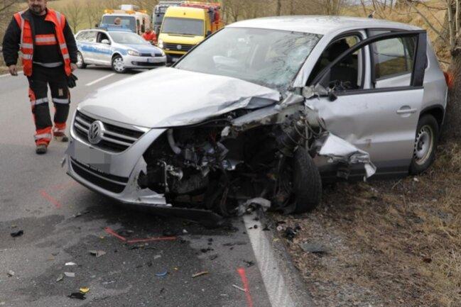 <p>Am VW entstand Totalschaden.</p>