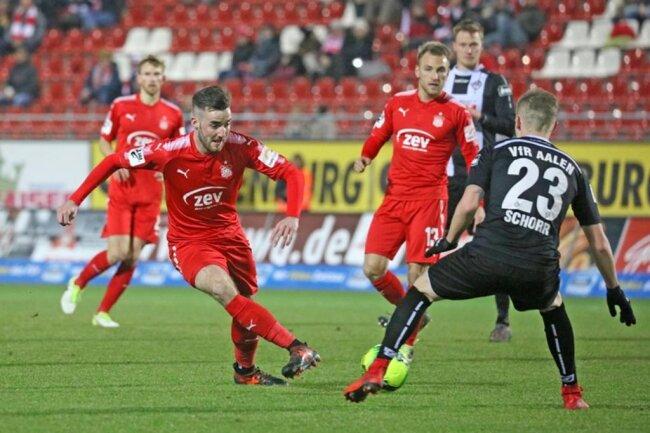 <p>Morris Schröter vom FSV am Ball.</p>