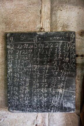 <p>Eine Holzschnittliste verzeichnete die Aufträge im Sägewerk.</p>