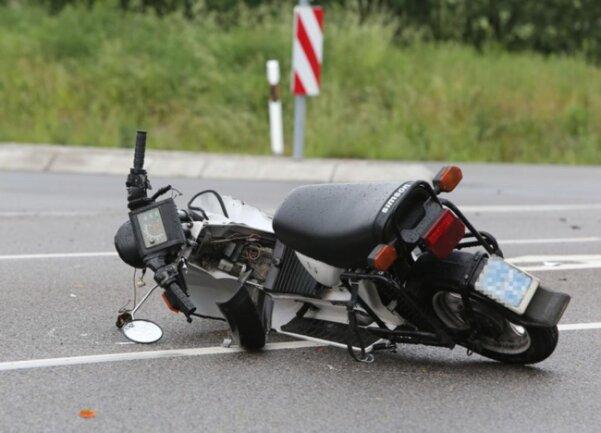 <p>Dabei ist ein 79-jähriger Mopedfahrer ...</p>