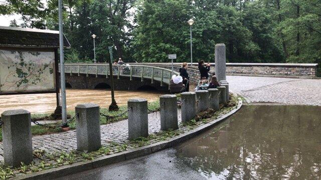 <p>Weitere Bilder zum Hochwasser an der Elster im Weischlitzer Ortsteil Kübitz</p>