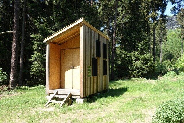 <p>Biwakhütte am Zschirnstein.</p>