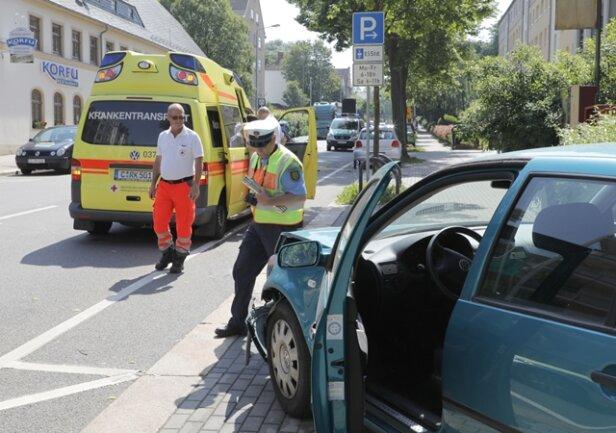 <p>Der Unfall ereignete sich auf der Zschopauer Straße.</p>