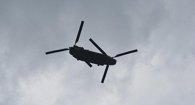 """<p>Unserem Fotoreporter Andreas Seidel gelang in Chemnitz diese Aufnahme eines """"Chinook"""" der US-Armee.</p>"""
