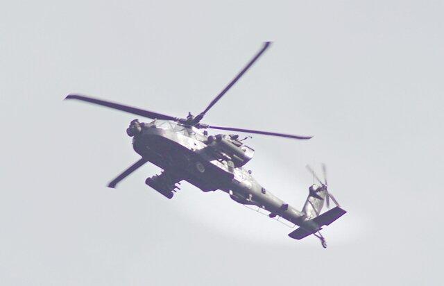 """<p>Ganz nah herangezoomt: Über der Zwickauer Region wurden dieser""""Apache"""" ...</p>"""