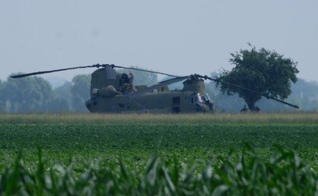 """<p>Der Helikopter war am Montag auf dem Weg nach Polen zum Nato-Manöver """"Saber Strike 2018"""", als technische Probleme auftraten.</p>"""