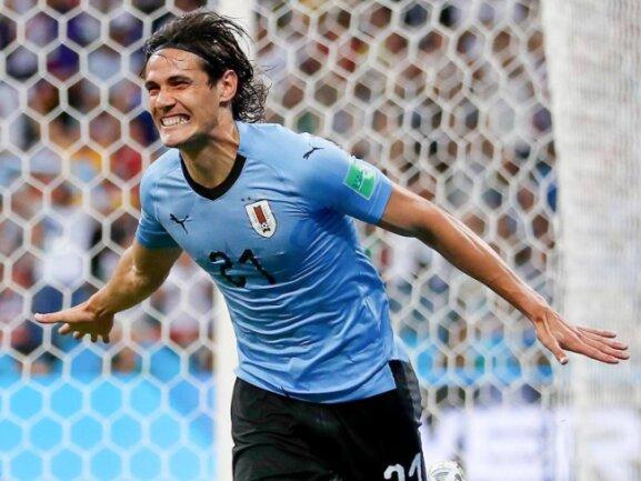 <b>Starker Auftritt</b><br/>Uruguays Edinson Cavani sorgte mit seinen beiden Toren für den 2:1-Sieg im WM-Achtelfinale gegen Portugal. Foto:Francisco Seco/AP<br/>30.06.2018 (dpa)