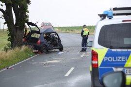 <p>Die Fahrerin kam nahe Weißenborn in einer Kurve von der Fahrbahn ab.</p>