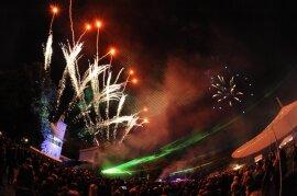 <p>Mit einem Feuerwerk ist das diesjährige Pressefest am Samstag zu Ende gegangen.</p>