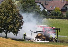 <p>Auf einem Feld an der Falkenstraße hatten 15 Heuballen Feuer gefangen.</p>