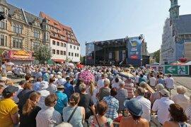 <p>Der letzte Tag des Stadtfestes begann am Vormittag mit dem ökumenischen Gottesdienst auf dem Hauptmarkt.</p>