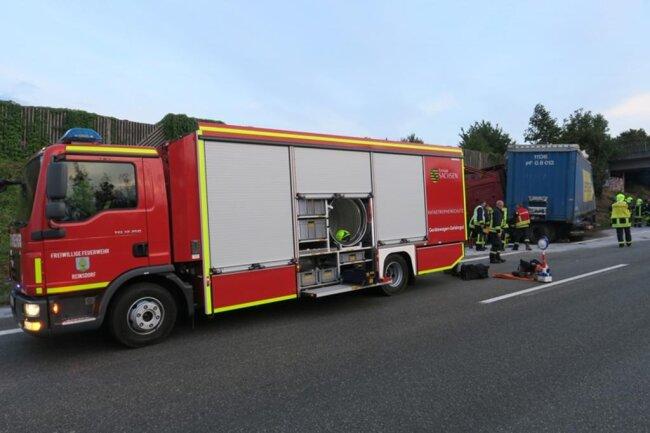 <p>Der Verkehr wurdean der Anschlusstelle Zwickau-West abgeleitet.</p>