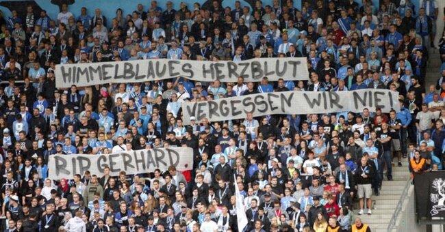 <p>Rund 5500 Fans sahen die Partie im Stadion Chemnitz.</p>