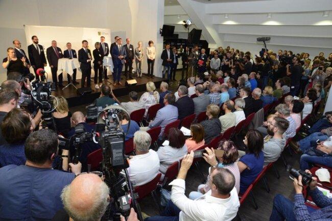 <p>Im Zentrum standen die jüngsten Ereignisse in Chemnitz und die Berichterstattung darüber.</p>
