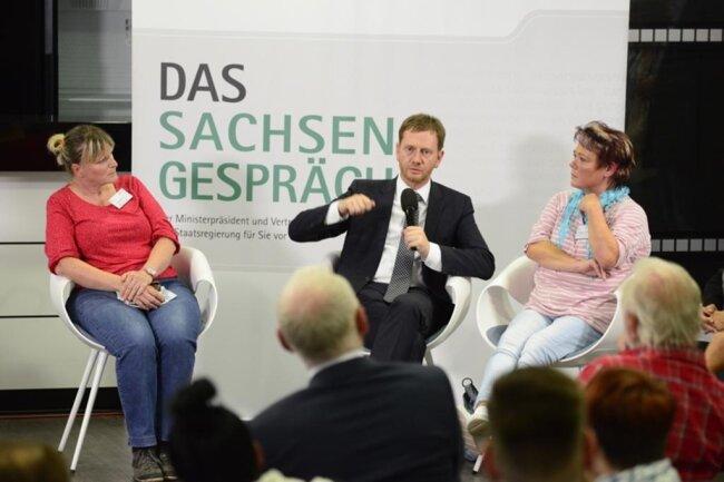 """<p>Kretschmer sagte zum Schluss, das sei eine intensive Diskussion gewesen: """"Das kann nicht das Ende, sondern nur der Anfang sein.""""</p>"""