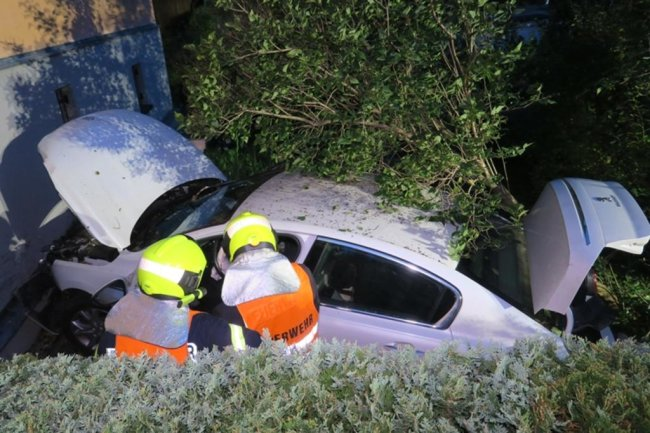 <p>Die Fahrerin kam verletzt ins Krankenhaus.</p>
