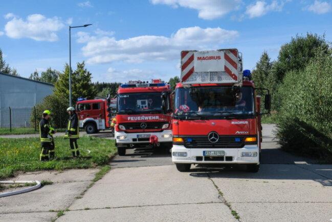 <p>Die Feuerwehren waren mit 51 Einsatzkräften und 12 Fahrzeugen vor Ort.</p>