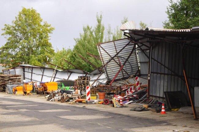 <p>Ein Dach des kommunalen Bauhofs der Stadt Kirchberg ...</p>