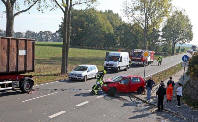 <p>Die Unfallstelle war erst am Nachmittag wieder freigegeben.</p>