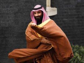 Der saudische Kronprinz Mohammed bin Salman in der Londoner Downing Street.