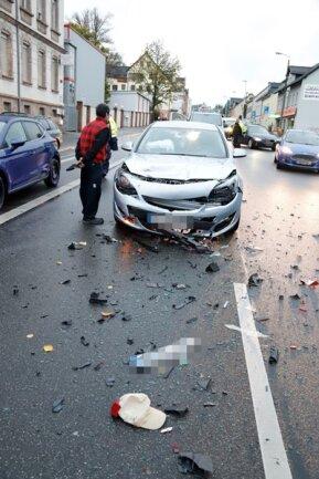 <p>Unfallstelle war die Frankenberger Straße in Höhe des Edekas.</p>