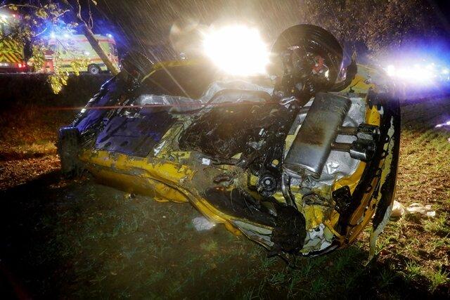 <p>Laut Polizei war auch ein Rettungshubschrauber im Einsatz.</p>