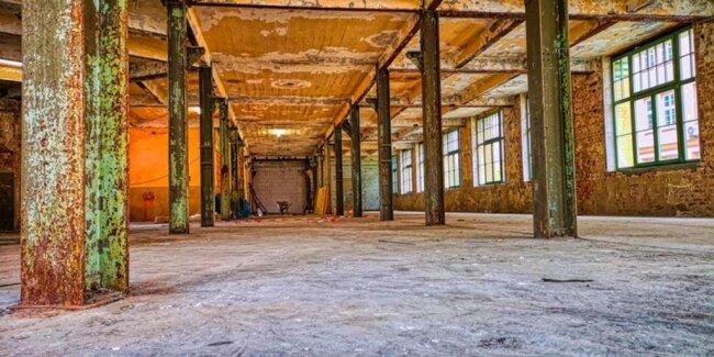 <p>Wellner-Gebäude 1, Erdgeschoss innen. So sehen die Lagerflächen aus, welche die Stadt hier anbietet.</p>