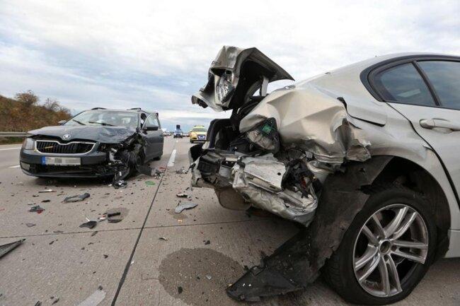 <p>Der 38-jährige BMW-Fahrer wurde schwer verletzt.</p>
