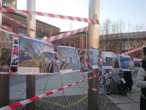<p>Aktion des Bündnisses Nazifrei zu den Ereignissen in Chemnitz, die Ende August in Chemnitz stattfanden.</p>