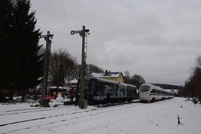 <p>Der Zug startete in Leipzig und fuhr über Chemnitz nach Annaberg-Buchholz.</p>