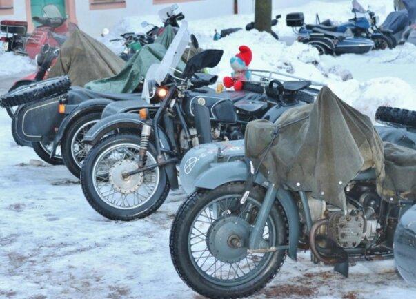 <p>Dennoch rückten einige Biker an.</p>