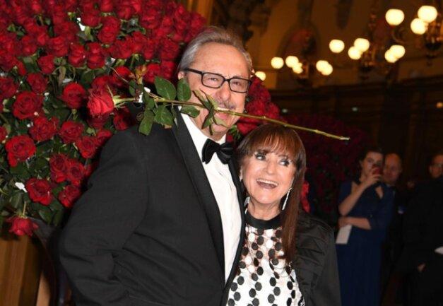 <p>Schauspieler Wolfgang Stumph und seine Frau Christine</p>