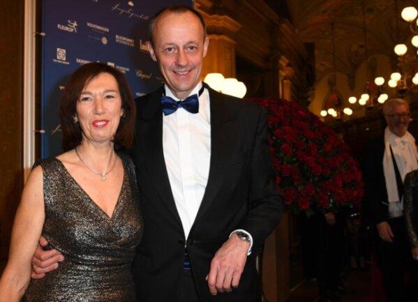 <p>CDU-Politiker Friedrich Merz und Ehefrau Charlotte</p>