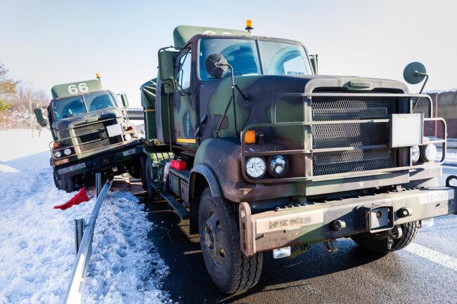 <p>Auf der A4 waren am Montagmittag etwa 25 Fahrzeuge im Konvoi unterwegs.</p>