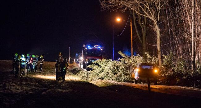 <p>Gegen 20 Uhr wurden die Feuerwehren von Mittelbach und Oberlungwitz alarmiert und rückten mit mehreren Fahrzeugen an. Eine Frau wurde vor Ort im Rettungswagen behandelt.&nbsp;</p>