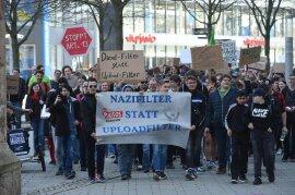 <p>Bundesweit gab esKundgebungen gegen das geplante Urheberrecht.</p>