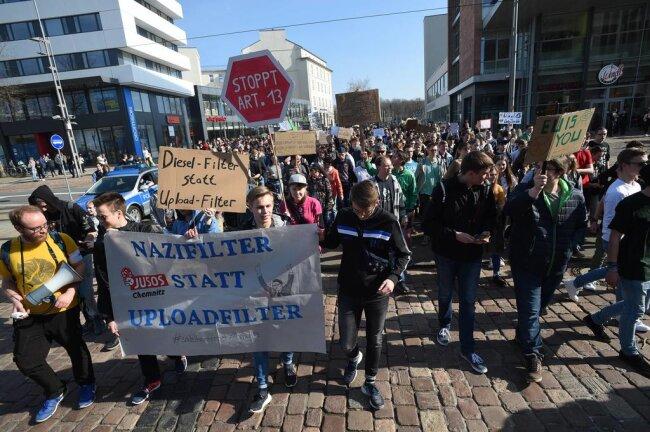 <p>Auch in Leipzig und Dresden gab es Demonstrationen.</p>