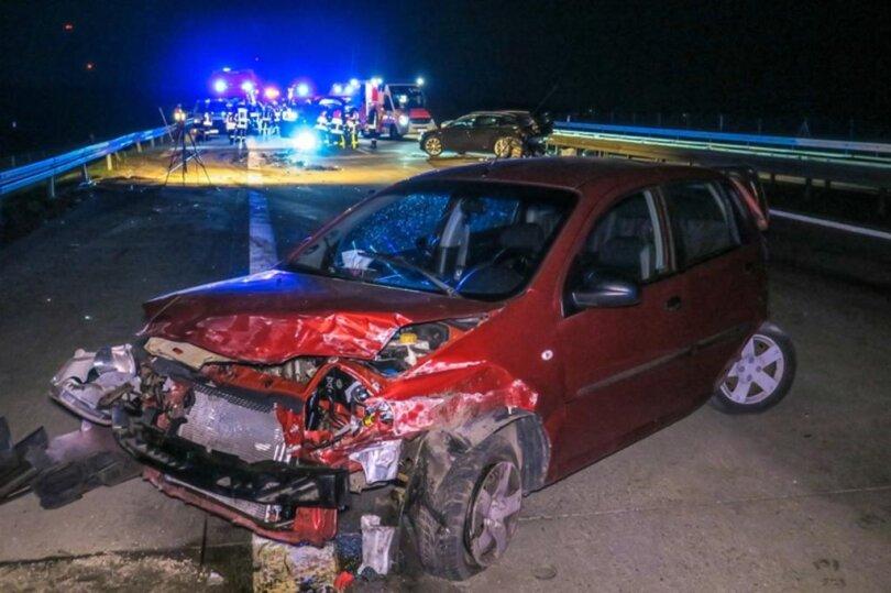 <p>Die Unfälle ereigneten sich gegen 22 Uhr kurz nach der Abfahrt Zwickau Ost in Richtung Chemnitz</p>