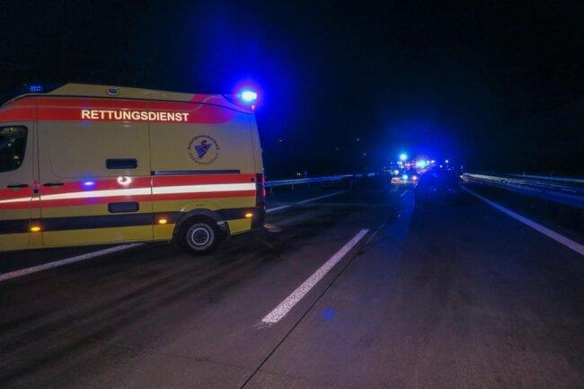 <p>Im Einsatz waren mehrere Rettungswagen und Notärzte.</p>
