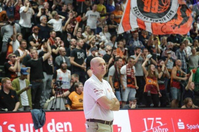 <p>Der Chemnitzer Coach Rodrigo Pastore nach dem Spiel.</p>