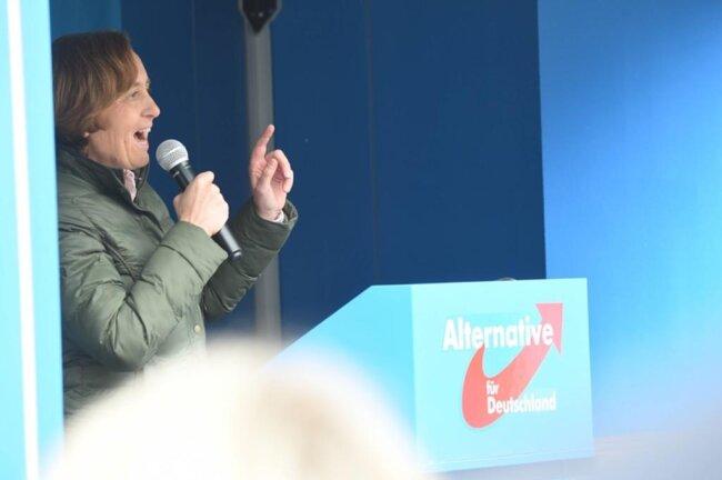 <p>Dort sprach unter anderem die AfD-Bundestagsabgeordnete Beatrix von Storch.</p>