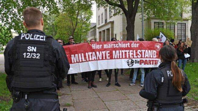 <p>Protest gegen das Pro-Chemnitz-Bürgerfest.</p>