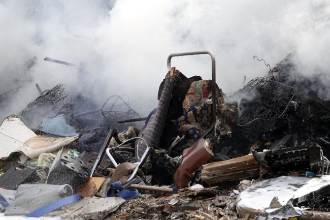 <p>Dort war ein Müllhaufen in Brand geraten.</p>