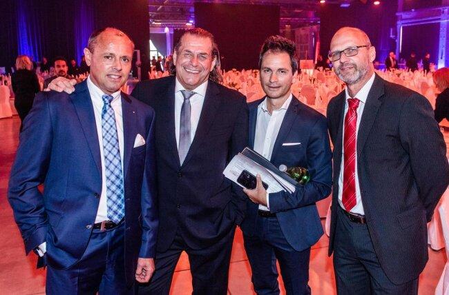 <p>Die Veranstalter Jens Carlowitz, Michael Huebner, Sven Hertwig und Thomas Schoenlebe (von links nach rechts).</p>