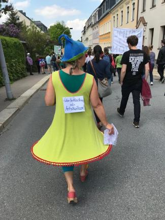 <p>Insgesamt waren 150 Teilnehmer bei den Fridays for Future Protesten dabei. Darunter viele kreative Unterstützer.</p>