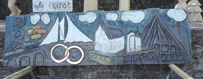 <p>Dieses Relief wurde von Paul Brockhage für das Sitzungs- und Trauzimmer im Rathaus Bad Schlema&nbsp;gestaltet.</p>