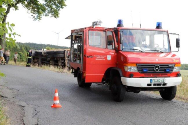 <p>Ob andere Fahrzeuge am Unfall beteiligt waren, ist laut Polizei noch nicht bekannt.</p>
