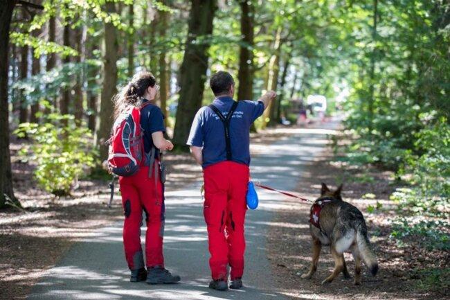 <p>Neun Hunde des Verbundes der Rettungshundestaffeln, Mitglieder des Technischen Hilfswerkes, der Feuerwehr und der Polizei waren an der Suchaktion beteiligt.</p>
